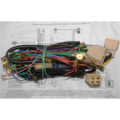 Central wires, wiring for Ural, Dnepr MT