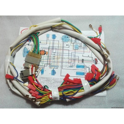 Central wires, wiring for JAWA 350 634 6V