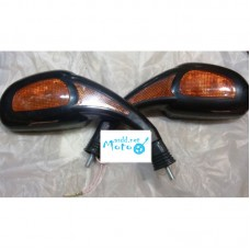 Rearview mirrors oval drop with turns black 8mm
