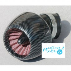 Air filter zero resistance turbine 42mm carbon