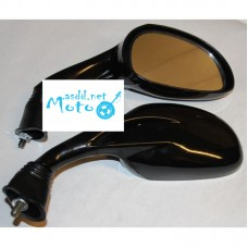 Rearview mirrors oval black drop 8mm