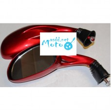 Rearview mirrors oval red drop 8mm