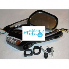 Rearview mirrors mercedes with turns black 8mm