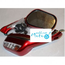 Rearview mirrors mercedes with turns red 8mm
