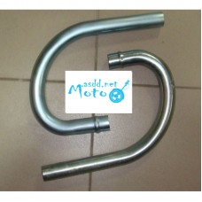 Knees exhaust pipes Dnepr MT Anodized