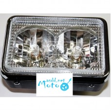 Headlight white glass with two lights IZH Planeta, Jupiter, Dnepr MT, URAL, K-750, JAWA 350 360 634 638, Minsk , Voshod, Voskhod, Muravey