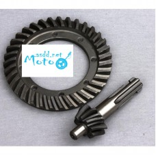 Differential crown wheel set (drive gear and pinion) Dnepr MT, URAL, K-750 Std 8 Teeth
