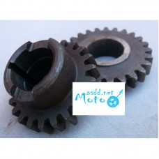 Fourth gear speed 25 tu 22 Dnepr MT (1.5 teeth)