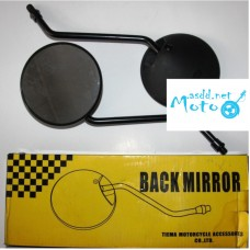 Rearview mirrors black round 10mm