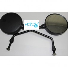 Rearview mirrors JAWA 350 634 638 6V 12V black round 10mm