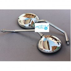 Rearview mirrors Dnepr MT, URAL, K-750 chrome metal on high stem 10mm