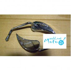 Rearview mirrors small flame chrome 10mm