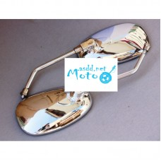 Rearview mirrors oval chrome 10mm