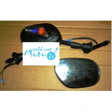Rearview mirrors black with turns 10mm