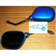Rearview mirrors small blue 10mm
